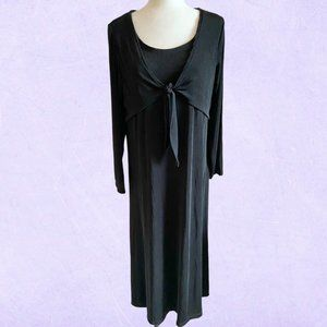 Vintage 90's April Cornell black slinky goth dress